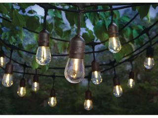 Hampton Bay 24 light Indoor Outdoor 48 ft  String light with S14 Single Filament lED Bulbs