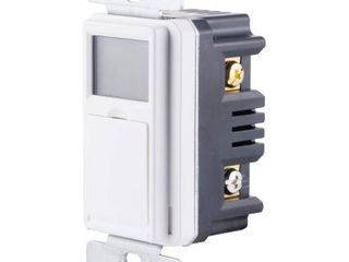Digital In Wall 3 Way Daylight Adjusting Timer with Screw Terminals  White
