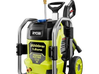 RYOBI 2000 PSI 1 2 GPM Cold Water Electric Pressure Washer  Missing 1 Nozzle  Missing 2 Screws