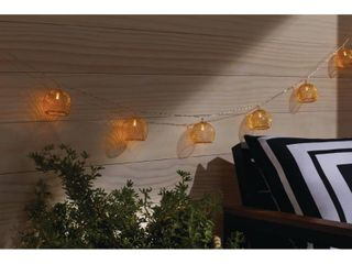 Hampton Bay Indoor 12 ft  Battery Operated Metal Integrated lED String lights  10 light