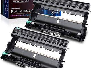 E Z Ink  TM  Compatible Drum Unit Replacement for Brother DR630 DR 630 to use with DCP l2520DW DCP l2540DW Hl l2300D Hl l2305W Hl l2320D Hl l2340DW Hl l2360DW Hl l2380DW Hl l2680W MFC l2700DW  2 Pack