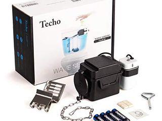 Techo Touchless Toilet Flush Kit with 8  Sensor Range  Adjustable Sensor Range and Flush Time  Automatic Motion Sensor Toilet Flush Kit Powered by Batteries