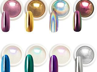 Beetles Chrome Nail Powder Mirror Effect Holographic Aurora Iridescent Pearlescent Manicure Art Decoration Glitter  8 Colors 1g or 0 5g Jar