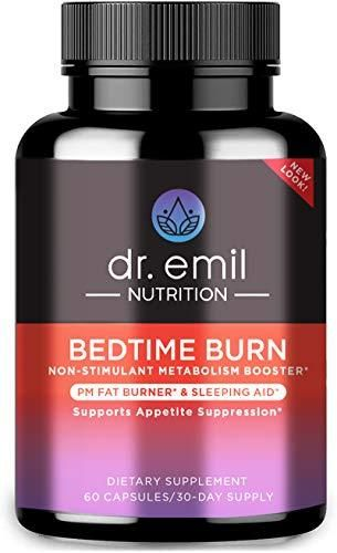 Dr  Emil Nutrition Bedtime Burn PM Fat Burner  Sleep Aid and Nighttime Appetite Suppressant  Stimulant Free Weight loss Pills and Metabolism Booster for Men and Women  30 Day Supply