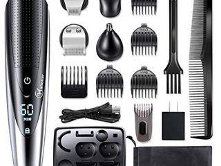 Hatteker Mens Hair Clipper Beard Trimmer Grooming kit Hair trimmer Mustache trimmer Body groomer Trimmer for Nose Ear Facial Hair Cordless Waterproof 5 In 1