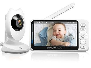 Video Baby Monitor  Dragon Touch E40 4 3  HD lCD Display with Camera  Two Way Audio  Invisible lED Night Vision  VOX Mode  Split Screen  960ft Range  8 lullabies and Room Temperature Monitoring