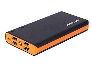 4 USB 50000mAh Power Bank lED External Backup Battery Charger for Phone  Orange
