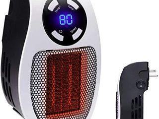 350W Space heater  Wall Outlet Electric Space Heater as Seen on TV with Adjustable Thermostat and Timer and led Display  Compact for Office Dorm Room