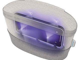 HoMedics UV Clean Sanitizer Bag Portable UV light Sanitizer  Fast Germ Sanitizer for Cell Phone  Makeup Tools  Credit Card  Keys  Glasses  Kills 99 9  of Bacteria   Viruses  Grey