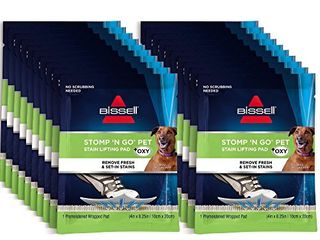 Bissell Stomp  N Go Pet lifting Pads   Oxy for Stain Removal on Carpet   Area Rug Cleaning  20 Pack  2194  20 Count