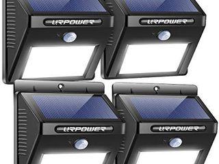URPOWER Solar lights Outdoor  Motion Sensor Security lights Solar Flood lights Waterproof Solar Powered Outdoor lights for Backyard  Fence  Deck  Patio  Garage  4 Pack