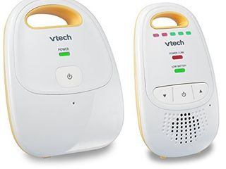 Upgraded VTech DM111 Audio Baby Monitor with Best in Class long Range  Privacy Guaranteed DECT 6 0 Transmissions  Cystal Clear Sound  Up Graded Parent Unit with Rechargeable Battery