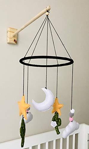 Wall Mounted Wooden Baby Crib Mobile Arm by Joey Co  Handmade in The USA  100  Birchwood  Sleek Scandinavian Design