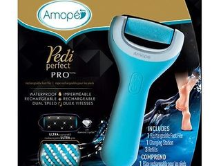 Amope Pedi Perfect Wet Dry Electronic Pedicure Foot File and Callus Remover   1ct