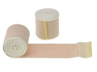 Dealmed 10 Pack 2  Elastic Bandage Wrap with Self Closure  Comfort Compression Roll  4 5 Yards Stretched