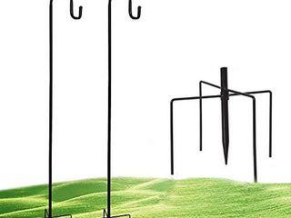 Shepherd s Hooks  47 Inch 2Pack Shepherd Hook Made of Metal for for Outdoor Bird Feeders Hanger  Hanging Solar lights  Mason Jars  Plant Hangers  Christmas lights  lanterns  Garden Stakes and Weddings