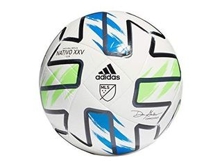 adidas MlS Club Soccer Ball  White Solar Green Glory Blue Black  4