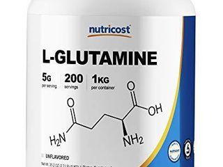 Nutricost l Glutamine Powder 1 KG   Pure l Glutamine  5000mg per Serving  Non GMO  Gluten Free