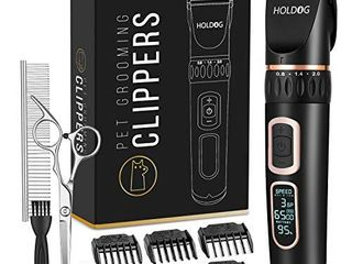Dog Clippers Professional Heavy Duty Dog Grooming Clipper 3 Speed low Noise High Power Rechargeable Cordless Pet Grooming Tools for Small   large Dogs Cats Pets with Thick   Heavy Coats