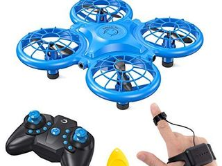 Dragon Touch DK01 Mini Drones for Kids  Multiple Remote Controls Hand Operated RC Quadcopter  G Sensor Mode  3D Flips  Altitude Hold  Headless Mode  One Key Return Speed Adjustment