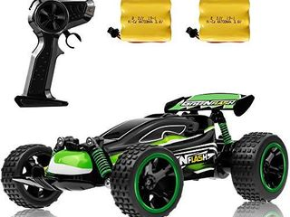 RC Racing Car  2 4Ghz High Speed Remote Control Car  1 18 2WD Toy Cars Buggy for Boys   Girls with Two Rechargeable Batteries for Car  Gift for Kids Green