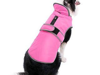 MIGOHI Reflective Waterproof Windproof Dog Coat Cold Weather Warm Dog Jacket Reversible Stormguard Winter Dog Vest for Small Medium large Dogs Orange  l