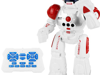 Boley Children s Robot Action Figure Red   White