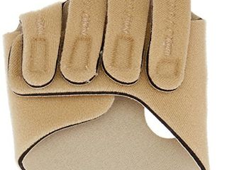 Rolyan 82429 Hand Based in line Splint for left Hand  Size large Hand Brace for Knuckle Support and MCP Joint Alignment  Reinforced Neoprene Hand Support with Finger Straps  Finger Alignment Splints
