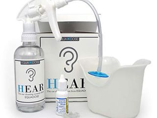Hear Earwax Removal Kit from Equadose  Assembled in USA  Ear Wax Remover for Ear Cleaning and Irrigation