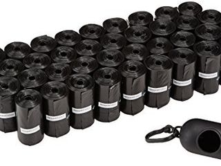 Amazon Basics Unscented Standard Dog Poop Bags with Dispenser and leash Clip  13 x 9 Inches  Black   Pack of 600  40 Rolls