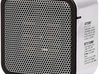 Amazon Basics 500 Watt Ceramic Small Space Personal Mini Heater   White