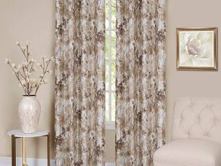 63 Inches Off White Achim Tranquil lined Grommet Curtain Panel