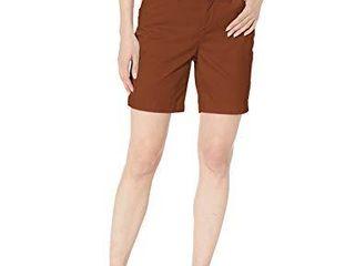 lee Women s Regular Fit Chino Walkshort  Rustic  16