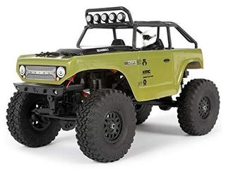 Axial SCX24 1 24 Deadbolt RC Crawler 4WD Truck 8  RTR with lED lights  3 Ch 2 4GHz Transmitter  Battery  and USB Charger   Green  AXI90081T2