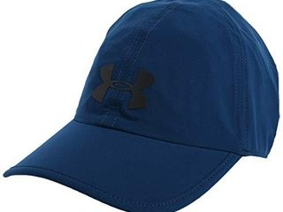 Under Armour Adult Run Shadow Cap   Graphite Blue  581 Black Reflective   One Size Fits All