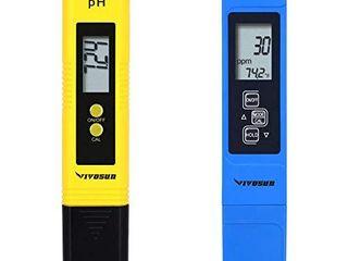VIVOSUN pH and TDS Meter Combo  0 05ph High Accuracy Pen Type pH Meter  2  Readout Accuracy 3 in 1 TDS EC Temperature Meter