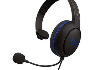 HyperX Cloud Chat Headset Official Playstation licensed for PS4  Clear Voice Chat  40mm Driver  Noise Cancellation Microphone  Pop Filter  in line Audio Controls  lightweight  Reversible