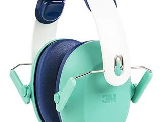 3M Kids Hearing Protection  Hearing Protection for Children with Adjustable Headband  Green  22dB Noise Reduction Rating  Studying  Quiet  Concerts  Events  Fireworks  For Indoor and Outdoor Use