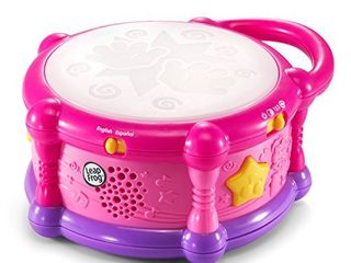 leapFrog learn   Groove Color Play Drum Bilingual  Pink  Amazon Exclusive