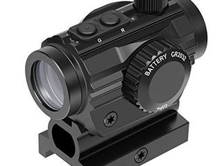 Feyachi RDS 36 1x22mm 5 MOA Red   Green Dot Sight Micro Red   Green Dot Scope with 0 83 Riser Mount Absolute Co Witness Height