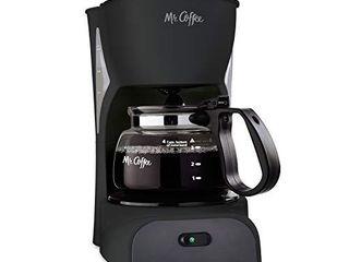 Mr  Coffee Simple Brew Coffee Maker 4 Cup Coffee Machine Drip Coffee Maker  Black