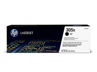 HP 305X   CE410X   Toner Cartridge   Works with HP laserJet Pro Color M451 series  M475 series  M375nw   Black   High Yield