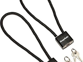 Snapsafe Cable Padlock Solid Steel   2 pack  Item No  75281