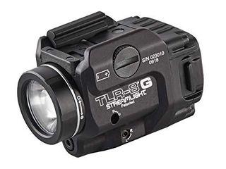 Streamlight 69430 TlR 8G with Rail locating Keys   CR123A lithium Battery   500 lumens   Black