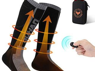 kemimoto Electric Heated Socks large  for Women Men  2600mAh Remote Control Rechargeable Battery Socks  Washable Heating Socks for Hunting Ice Fishing  Camping  Skiing