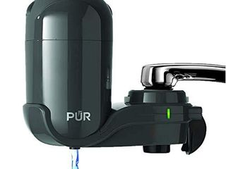 PUR Faucet Mount Water Filtration System  Small  Gray