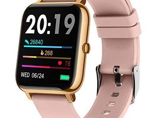 Smart Watch  Popglory 1 4 inch lCD Full Touch Screen Smartwatch with Blood Pressure  Blood Oxygen Monitor  Fitness Tracker with Heart Rate Monitor  Fitness Watch for Android   iOS for Men Women