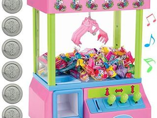 Bundaloo Unicorn Claw Machine Arcade Game and Candy Dispenser for Small Prizes Toys and Treats  Plays Original Arcade Music Sounds  Cool Mini Vending Machine  Slightly Damaged