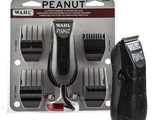 Wahl Professional Peanut Clipper Trimmer  Great On the Go Trimmer for Barbers and Stylists  Powerful Rotary Motor  Black