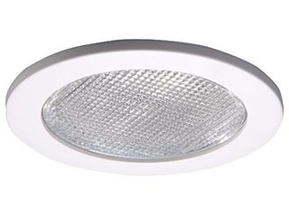 HAlO 4055WH E26 Series Recessed lighting Shower Trim with Prismatic Glass lens  4 In  White